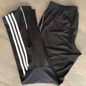 Adidas Blk Track Pants w/Wht trim sz M -  EUC